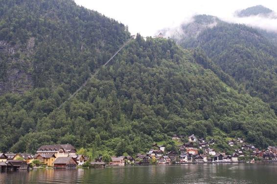Funicular railway and Salzberg mountain