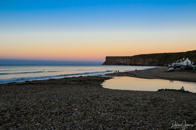 Sunset views looking east from Saltburn-by-the-Sea