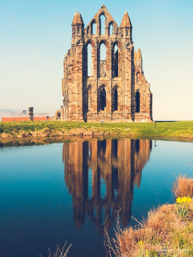 Whitby Abbey Ruins Reflections