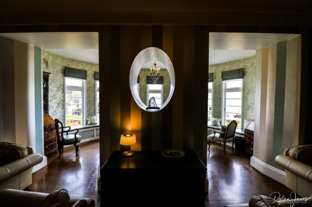 The lounge area at the Portmeirion Hotel