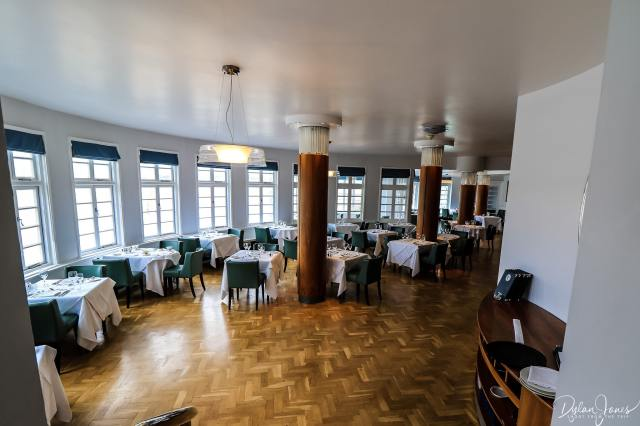 An overview of the fine dining restaurant at Hotel Portmeirion