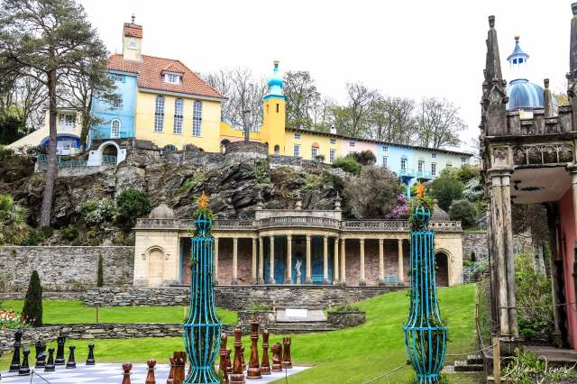 The main Piazza at Portmeirion Village and the Bristol Colonnade